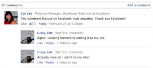 Facebook hozzászólások