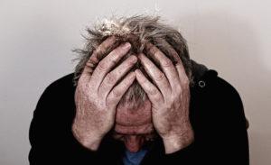 stresszes férfi
