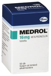 Medrol tabletta doboza