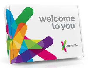 A 23andMe tesztjének doboza