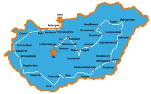 Ternován Zoltán 2015-ös kerékpáros országkerülésének útvonala