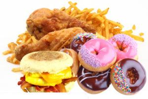 zsírban gazdag ételek