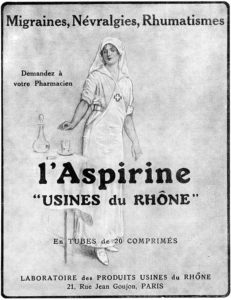 Az aszpirin reklámplakátja 1923-ból