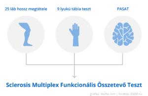 a Sclerosis Multiplex Funkcionális Összetevő Teszt összetevői